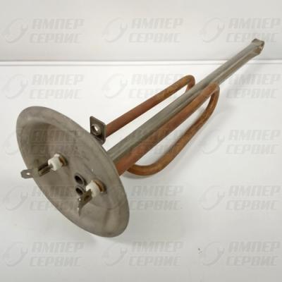 ТЭН 1500 Вт. две трубки для термостата и термозащиты, фланец 92 мм. RF под M6 для водонагревателей Thermex, Electrolux (Термекс, Электролюкс) 10081